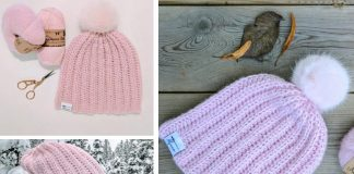 Strawberry Fluff Hat Crochet Free Pattern