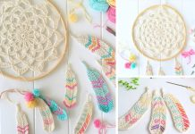 Dream Catcher Of Feathers Crochet Free Pattern