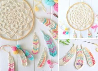 Dream Catcher Of Feathers Crochet Free Pattern