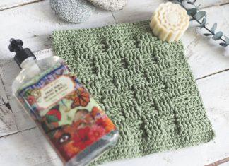 Basket Weave Stitch Washcloth Crochet Free Pattern