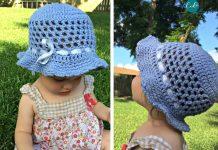 Kid Toddler Sun Hat Crochet Free Pattern