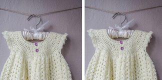 Angel Wing Pinafore 2T Dress Crochet Free Pattern
