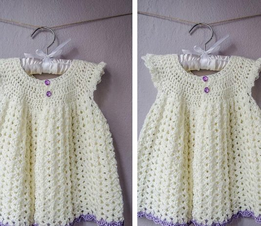 Angel Wing Pinafore 2T Dress Crochet Free Pattern