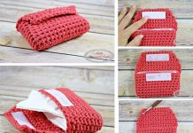 SMALL TISSUE POUCH – FREE CROCHET PATTERN