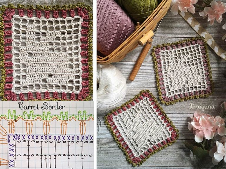 Spring Bunny Doily Crochet Free Pattern