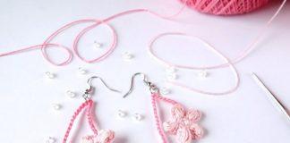 Cherry Blossom Earrings Crochet Free Pattern