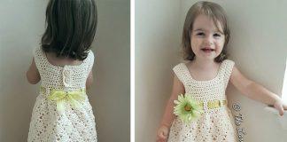 Vintage Toddler Dress Crochet Free Pattern