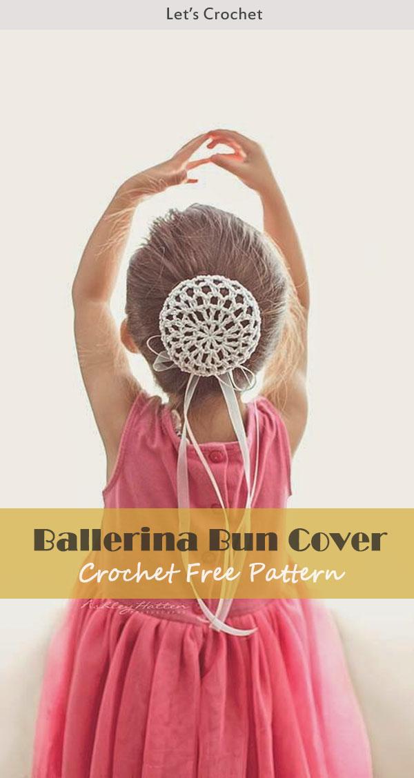 Dancer Ballerina Bun Cover Crochet Free Pattern