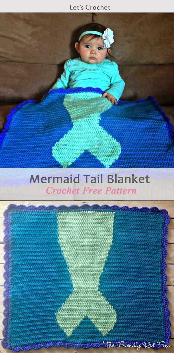 Crochet Mermaid Tail Blanket Patterns 3 Free Crochet Patterns