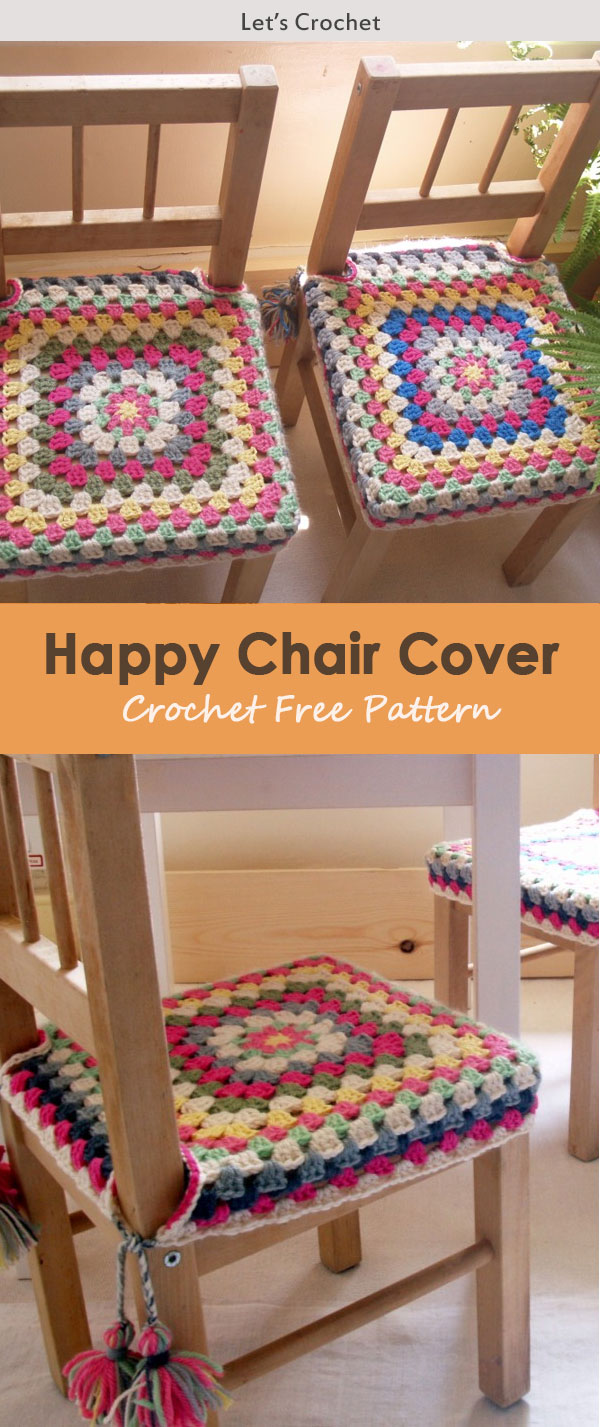 Happy Chair Cover Crochet Free Pattern