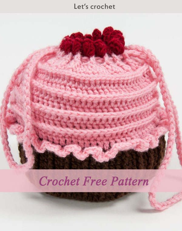Crochet Free Pattern - Cupcake Purse