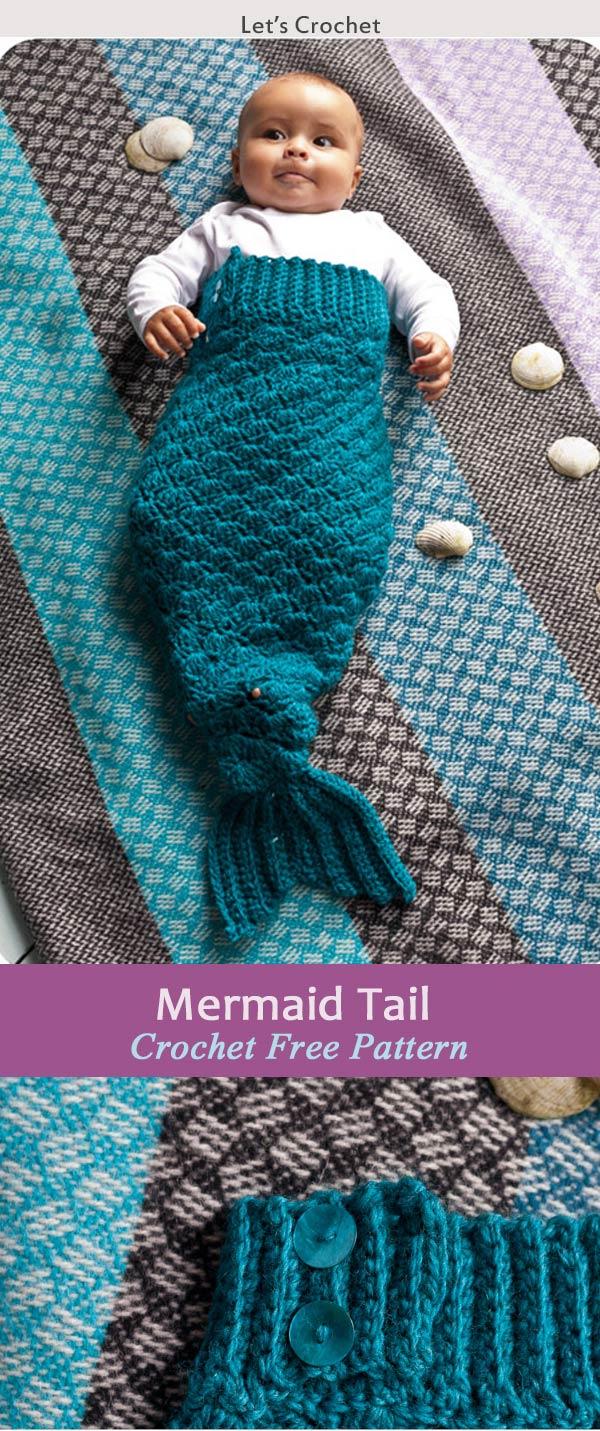 Crochet Mermaid Tail Blanket Patterns 3 Free Crochet Patterns