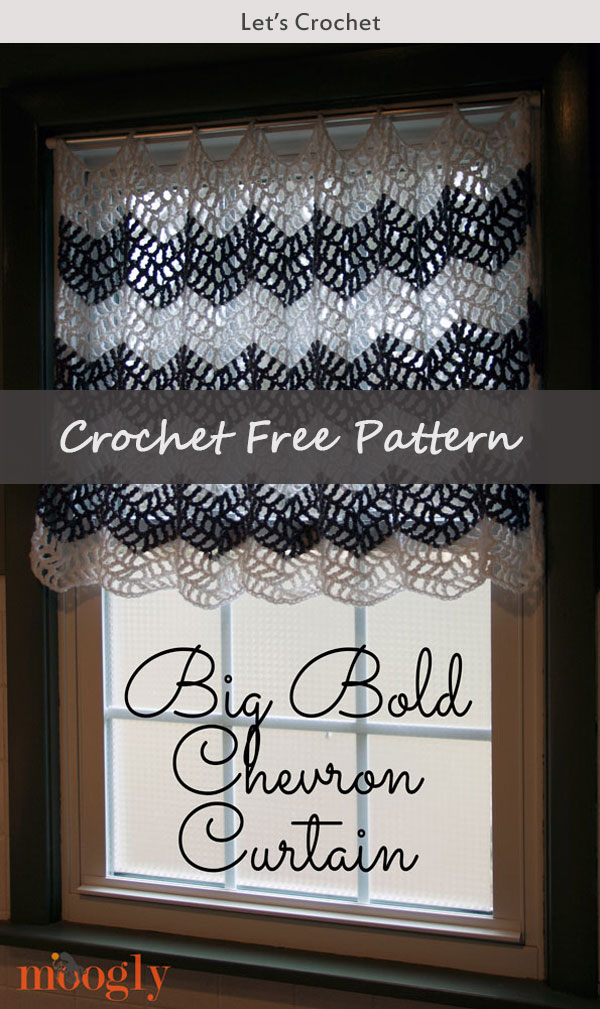 Big Bold Flower Chevron Curtain Free Crochet Pattern