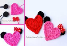 Mickey Mouse Applique Crochet Free Pattern