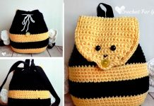 Bumble Bee Backpack Crochet Free Pattern