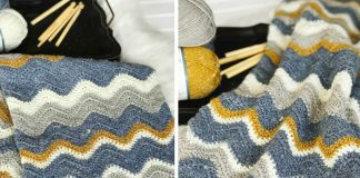 Pretty Chevron Blanket Crochet Free Pattern