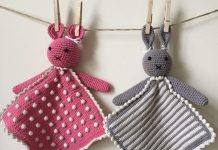 Crochet A Toy Of Animal Taggy Blankets Free Pattern