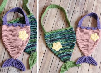 Mermaid Tail Bag Crochet Free Pattern