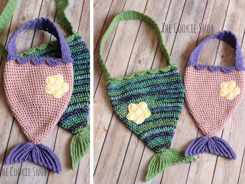 Mermaid Tail Bag Crochet Free Pattern