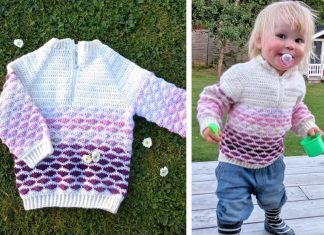 Woolly Waves Sweater Crochet Free Pattern