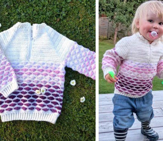 Woolly Waves Sweater Crochet Free Pattern