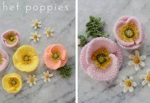 Crochet Iceland Poppy Flower Free Pattern