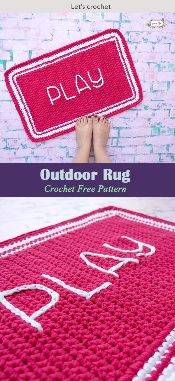 Outdoor Rug Crochet Free Pattern
