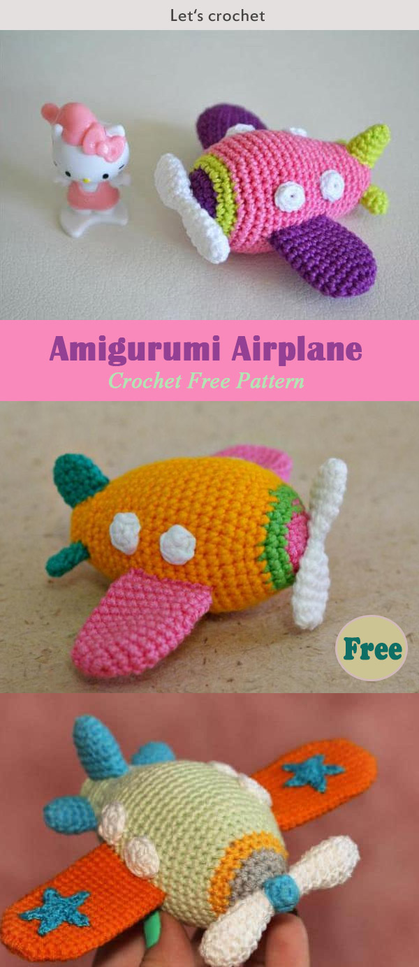 Amigurumi Airplane Crochet Free Pattern