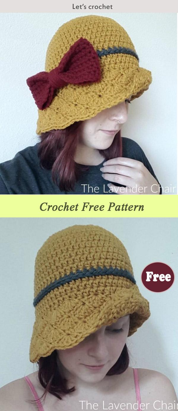 Simple Shells Cloche Hat Crochet Free Pattern