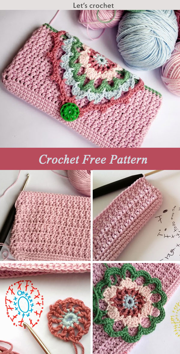 Hook Phone Case Purse Crochet Free Pattern