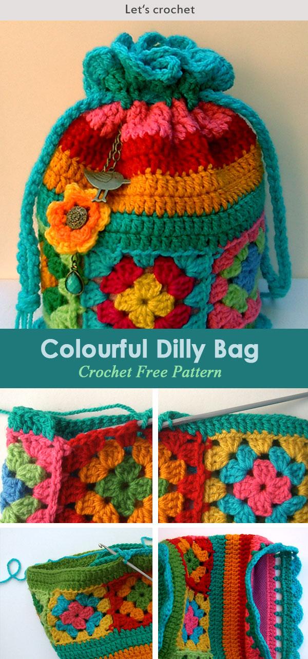Crochet Dilly Bag Purse Free Pattern