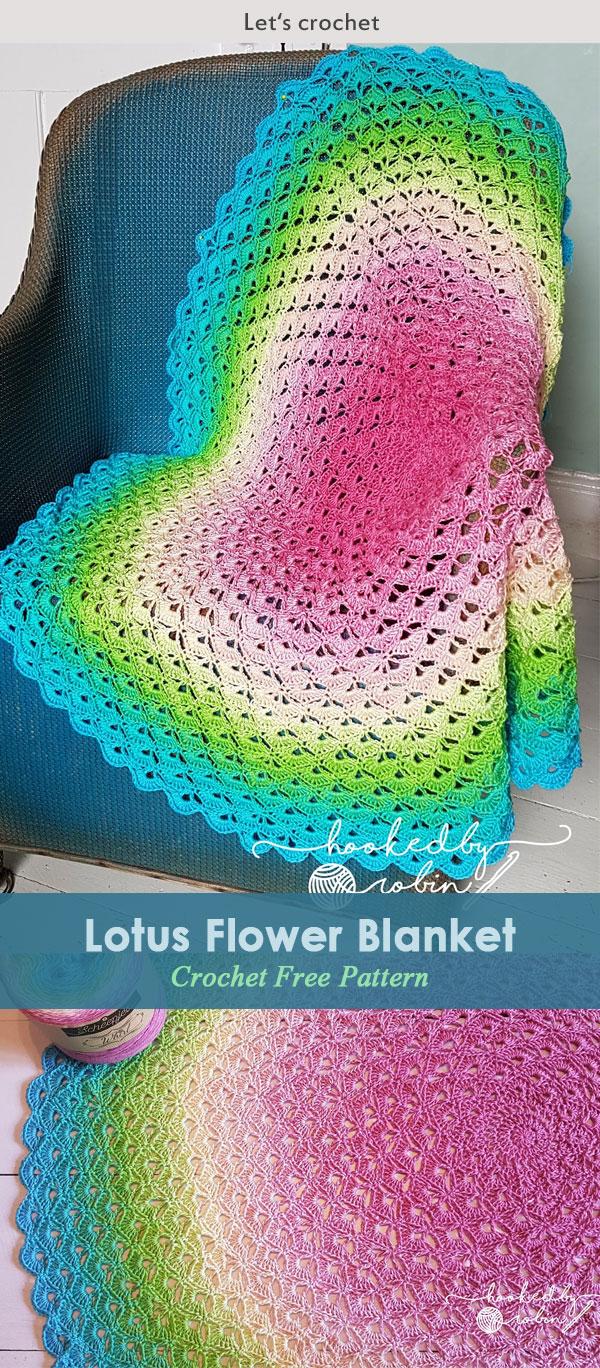Lotus Flower Blanket – free crochet circle blanket pattern and video tutorial