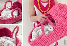 Crochet Gorgeous Doll's Carry Basket Free Pattern