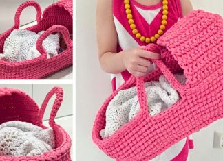 Crochet Gorgeous Doll's Carry Basket Free Pattern