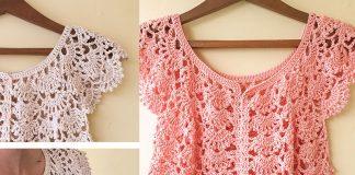 Picot Fan Summer Cardigan Crochet Free Pattern