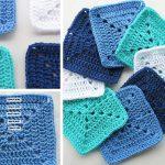 Ocean Themed Granny Square Afghan Series Crochet Pattern