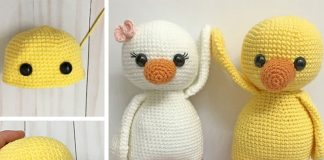 AMIGURUMI DUCK Crochet Free Pattern