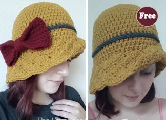 Simple Shells Cloche Hat Crochet Free Pattern