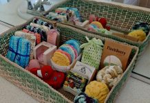 Spa Basket Crochet Free Pattern