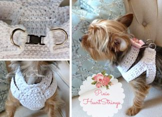 A Crocheted Dog Harness for Your Tiny Dog ~ FREE Pattern