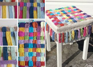 Stool Cover Crochet Free Pattern