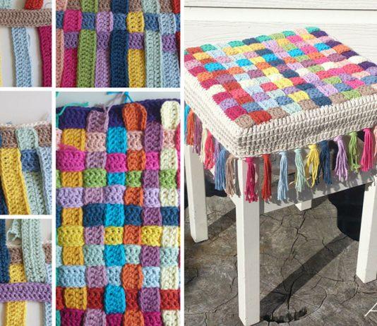 Stool Cover Crochet Free Pattern