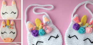 Unicorn Purse Bag Crochet Free Pattern