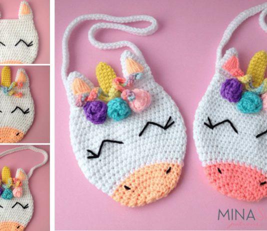 Unicorn Purse Bag Crochet Free Pattern