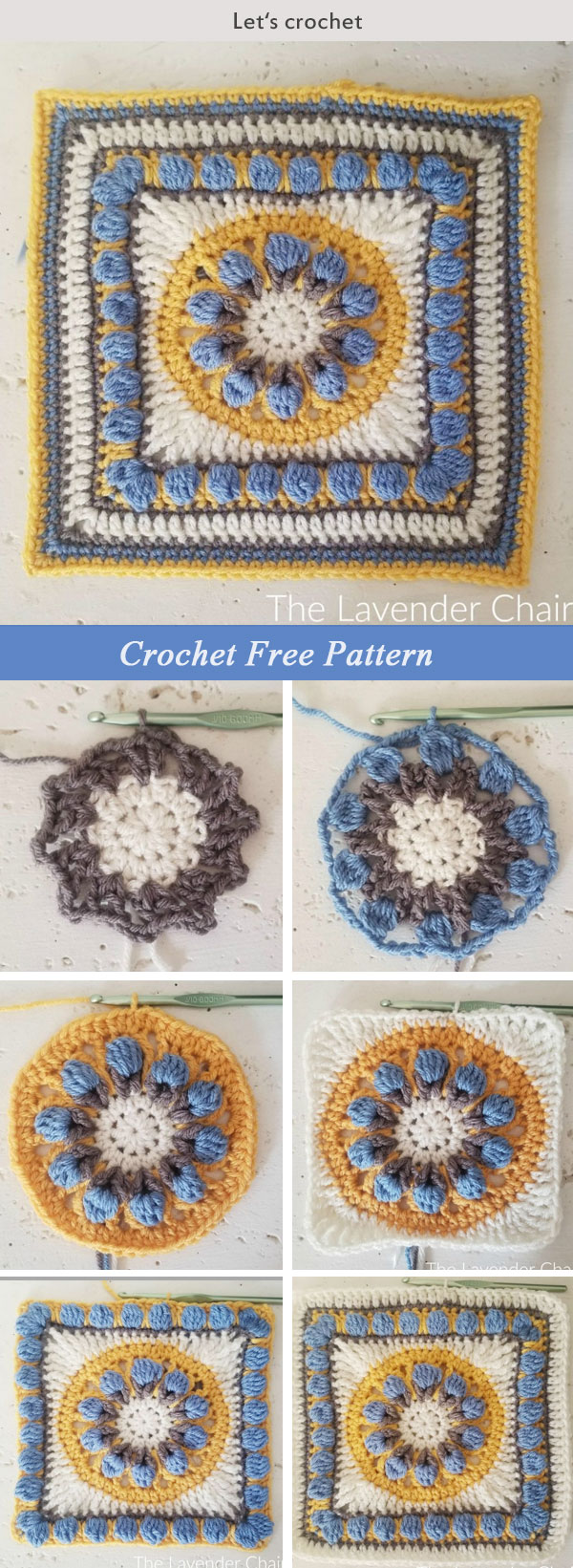 Tuscan Flower Square Free Crochet Pattern