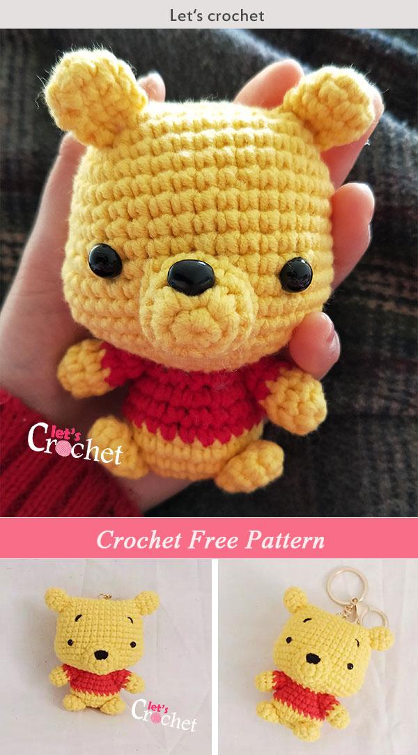 Cute Pooh Amigurumi Crochet Free Pattern