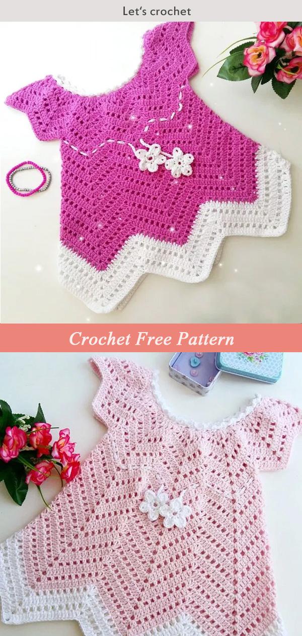 Baby Blossom Summer Dress Free Crochet Pattern