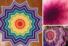 Crochet Rainbow Ripple Baby Blanket Free Pattern
