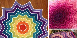 Crochet Rainbow Ripple Baby Blanket Free Pattern