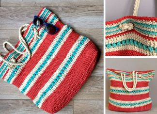 Crochet Colorful Tote Bag Free Pattern